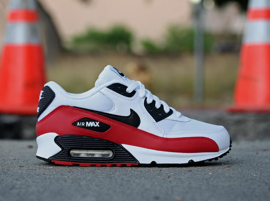 2d16a42d0c51 Nike Air Max 90 - Sport Red Black-White