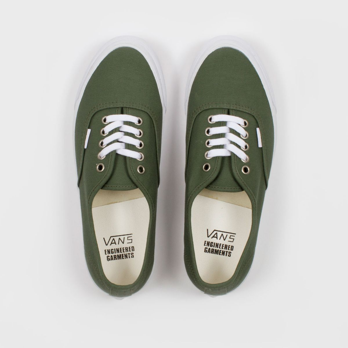 engineered garments x vault by vans og authentic lx reversed olive sateen