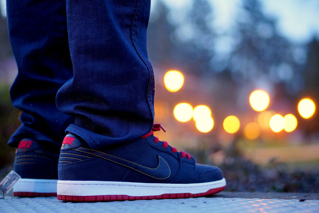 DRUMattX wearing the Levi's x Nike Dunk Low SB