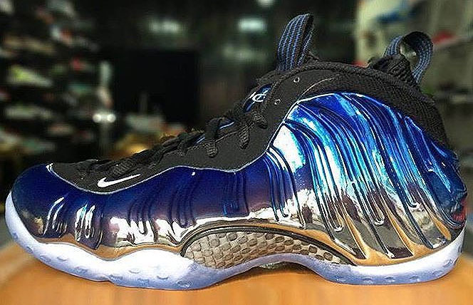 Release Date Blue Mirror Nike Air Foamposite One Sole
