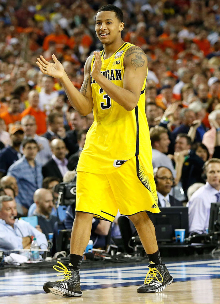 Trey Burke wearing adidas Crazyquick