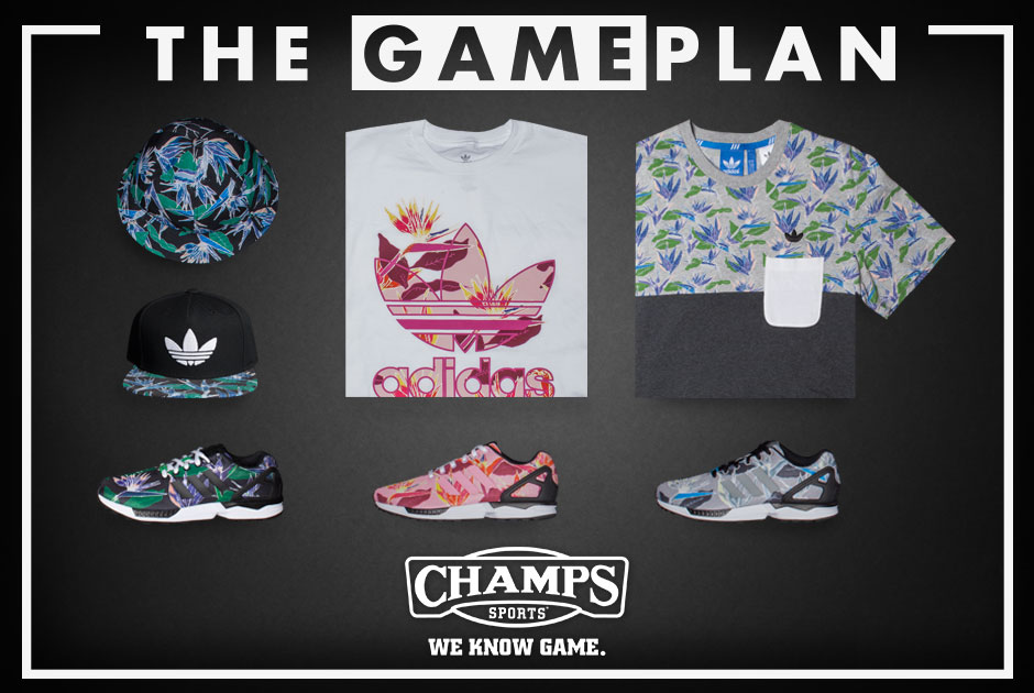 af6a503f9 The Game Plan by Champs Sports Presents the adidas ZX Flux Floral Collection