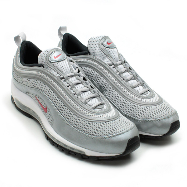 Nike Air Max 97 Premium Metallic Silver Black Varsity Red