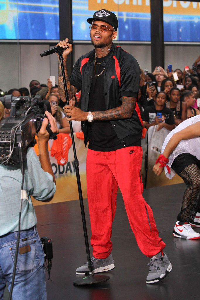 Chris Brown Wearing Cool Grey Air Jordan IV 4 Retro (3)