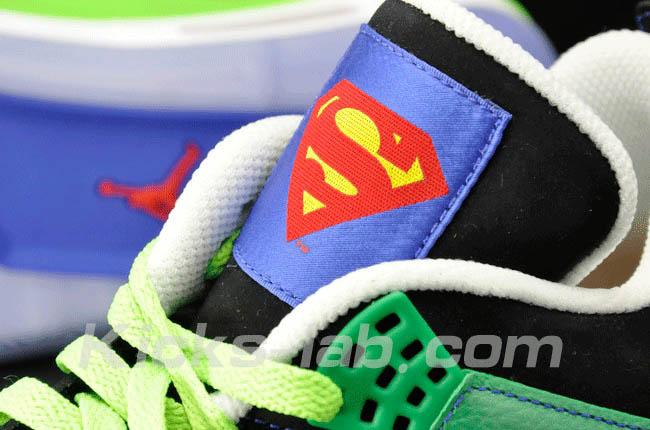 promo code aa9cd de68b Air Jordan 4 IV Doernbecher Superman Black Old Royal Electric Green White  308497-015 L