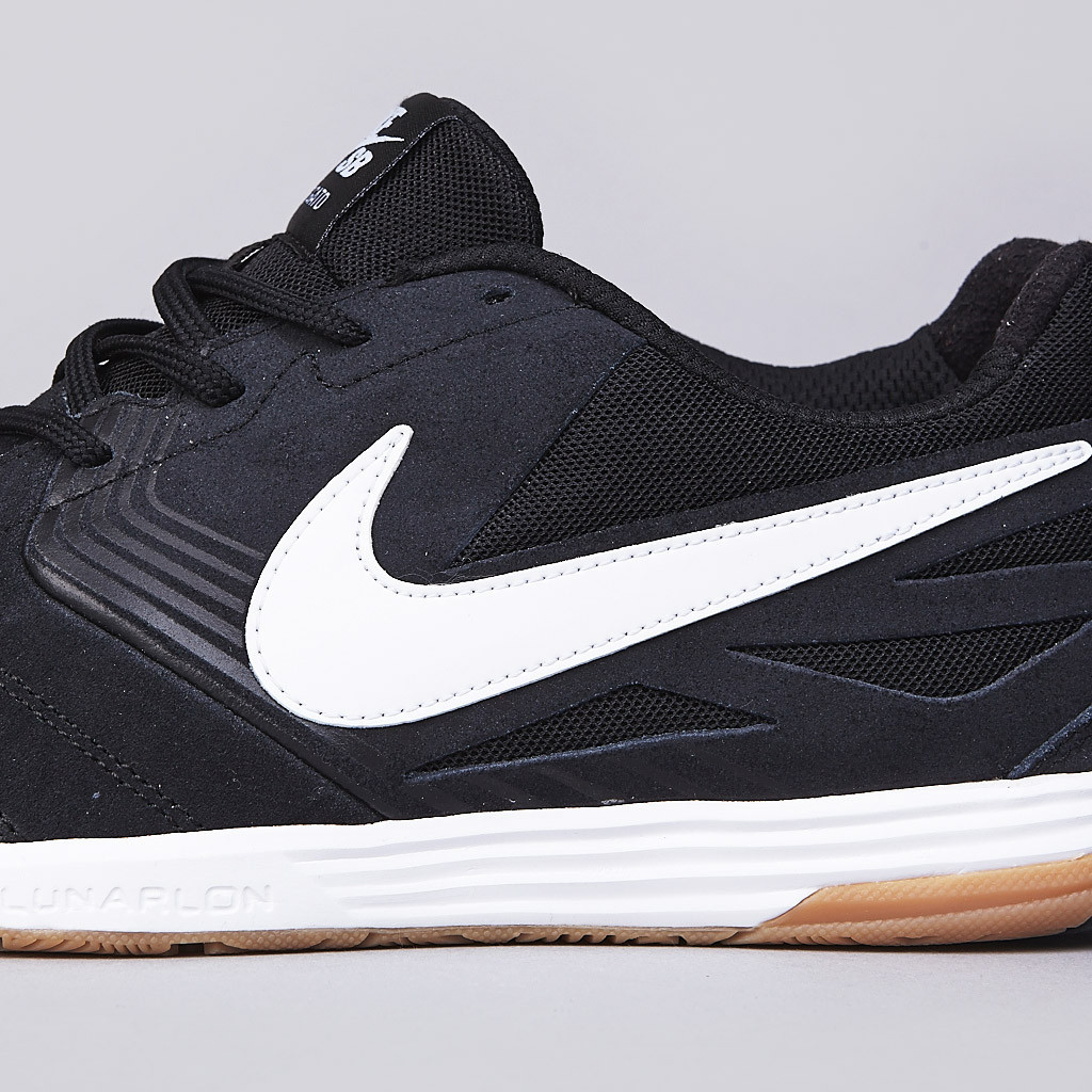 best website 56750 752ec Nike SB Lunar Gato in black white gum details