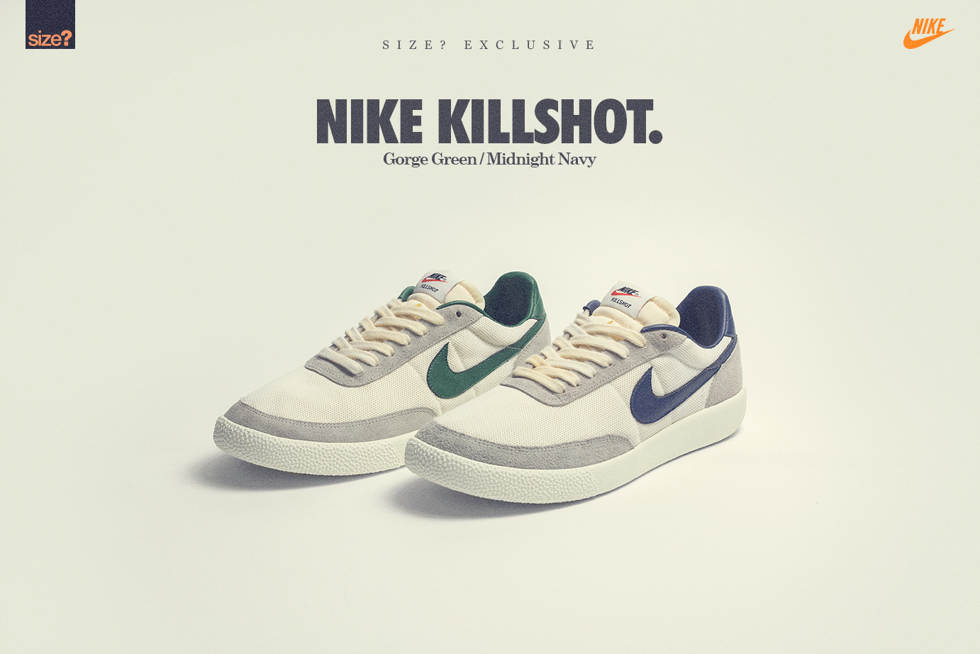 finest selection 2d524 a9a52 Size  continues to surprise with its Nike silhouette selections, the  Killshot is the latest.