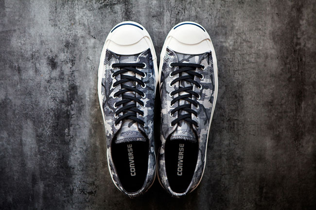 a3981357e431bf Camo print returns to the Jack Purcell with this black