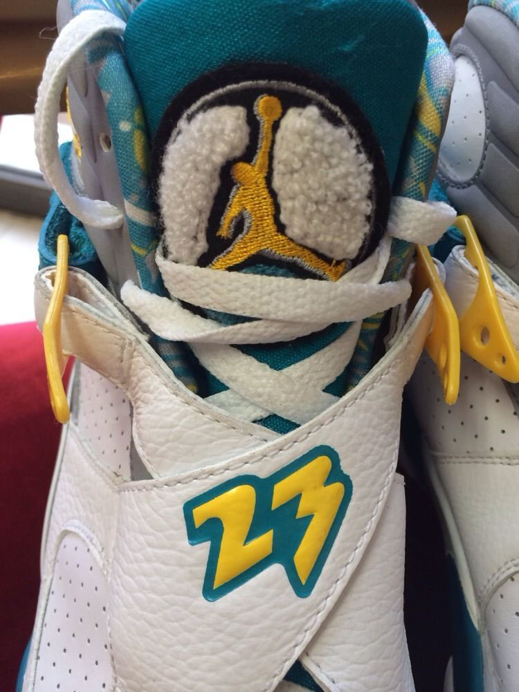 check out 7dc25 b8548 Chris Paul's 'Hornets Home' Air Jordan 8 PE Available on ...