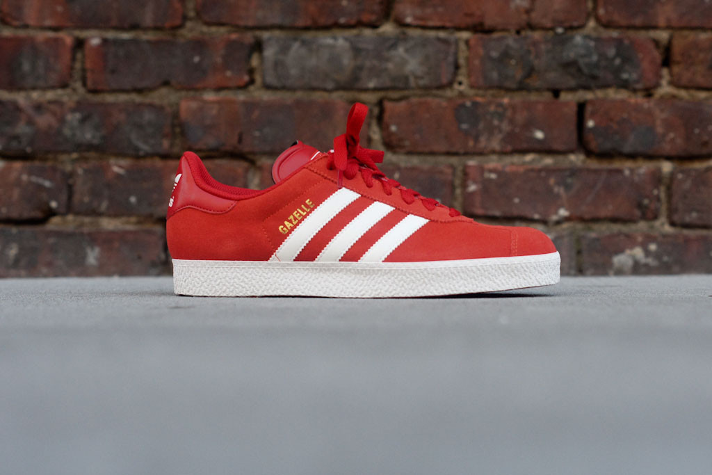 adidas gazelle red suede
