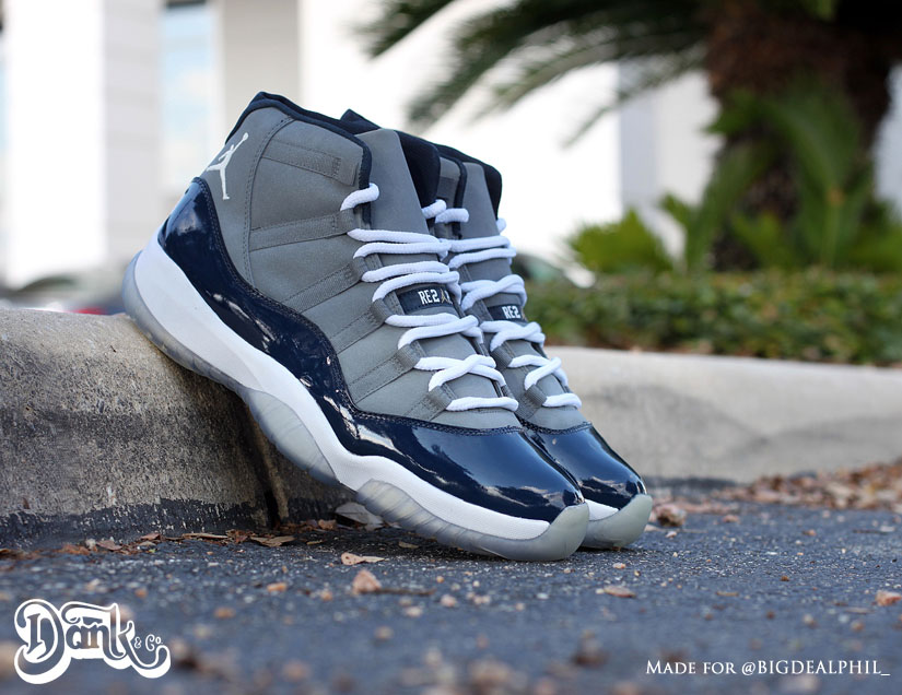 outlet store b2917 6ed07 Air Jordan XI 11  Derek Jeter  by Dank Customs