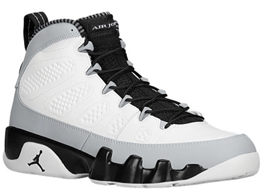 Air Jordan 9 Retro White/Black-Wolf Grey