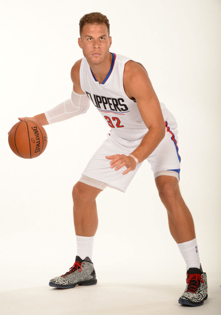 Blake Griffin wearing the Jordan Super.Fly 4 Jacquard