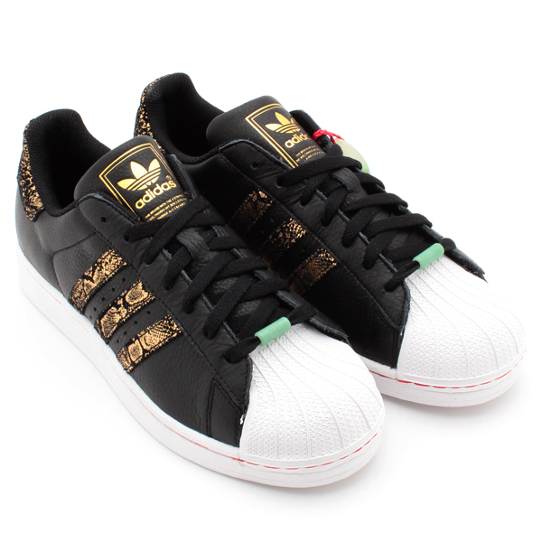 adidas black gold superstar