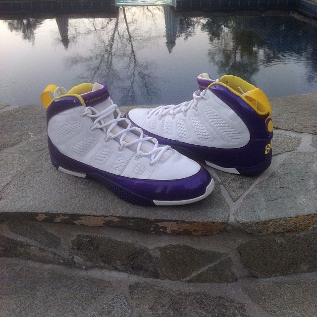 Randy Moss Air Jordan 9 Turf PE (1)