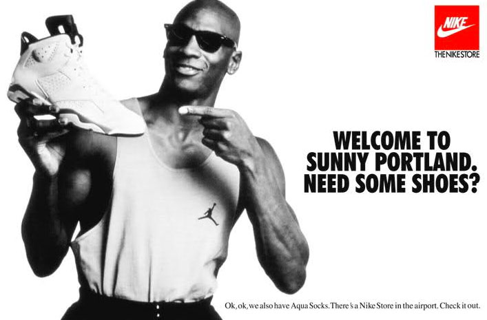 Michael Jordan 'Welcome to Sunny Portland' Nike Air Jordan Poster (1991)