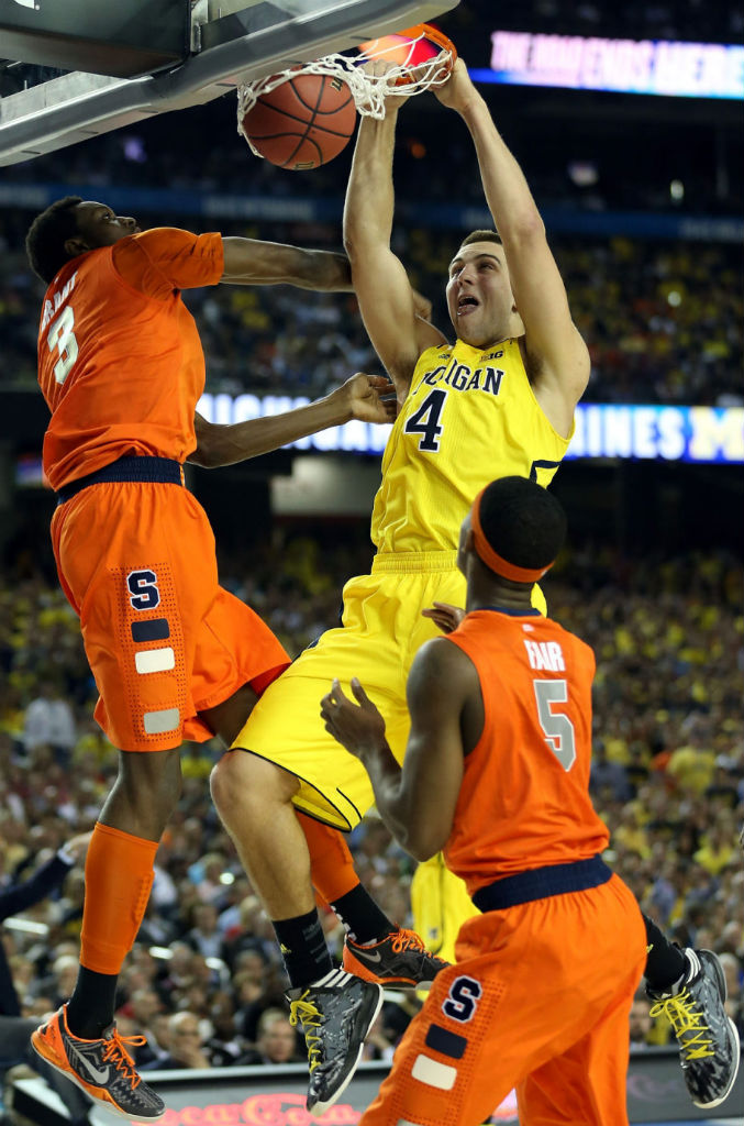 Mitch McGary wearing adidas Crazy Fast