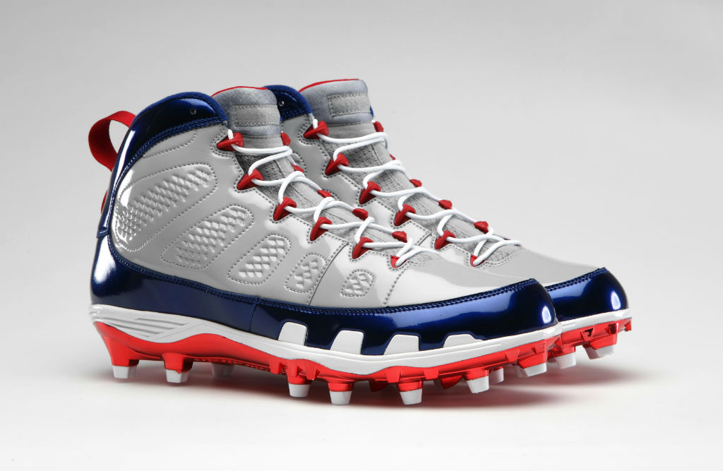 Air Jordan Retro IX 9 Cleats for Team Jordan - Hakeem Nicks Giants (1)