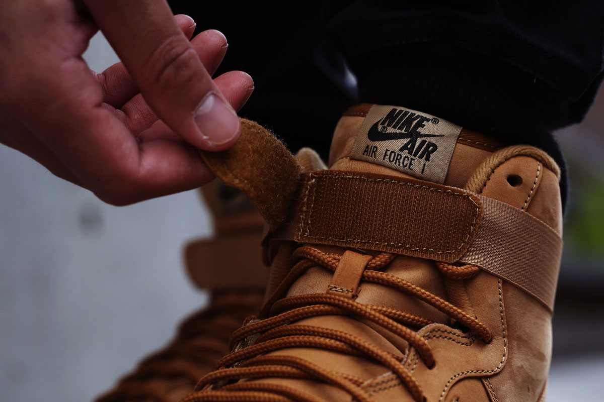 the best attitude 1743c 31102 Here s an On-Feet Look at the  Wheat  Nike Air Force 1