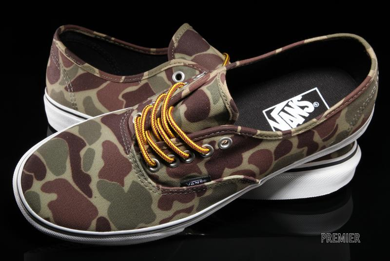 c0d110e634 A stylish new look for the classic Vans Authentic arrives with this waxed  canvas camouflage version.