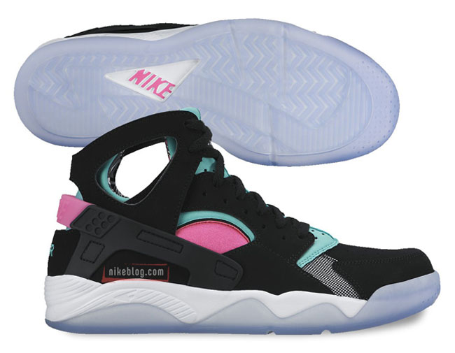 Nike Air Flight Aqua Huarache En Negro  Rosa  Aqua Flight Sole Collector 1d782a