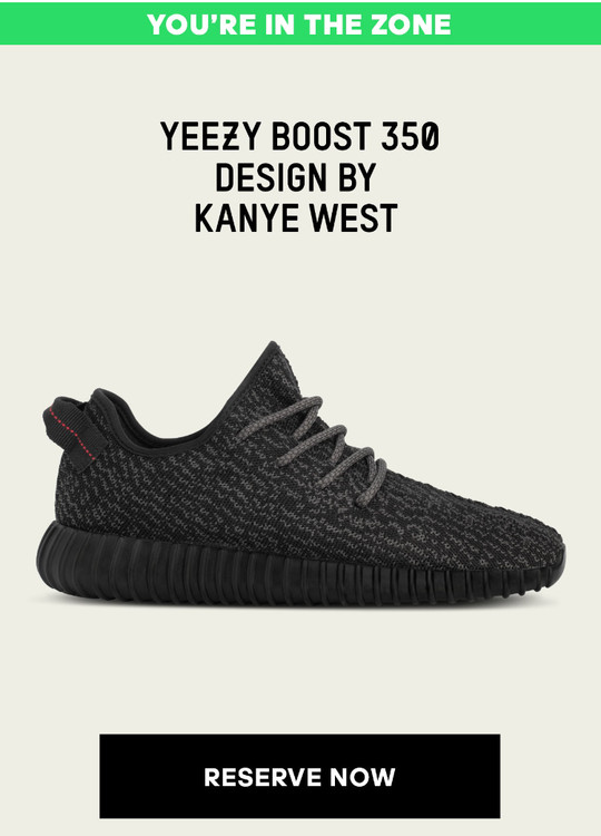 6cd0690f397 Reserve Your adidas Yeezy 350 Boosts Now