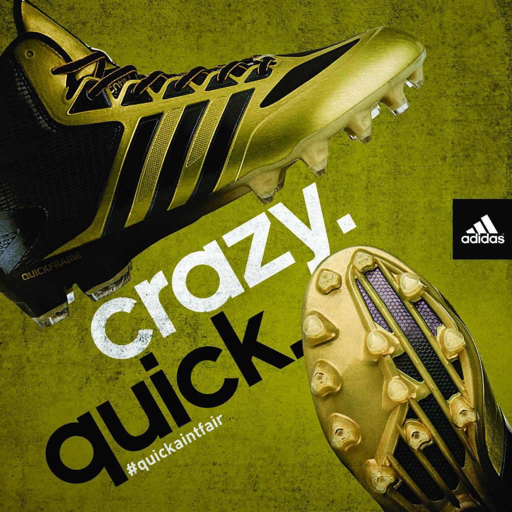 adidas Crazyquick Cleats Black Gold