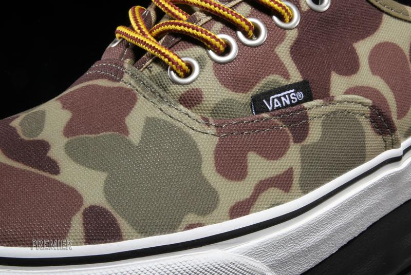 6a89879f7a Look for the camo Waxed Canvas Authentic now at select Vans retailers