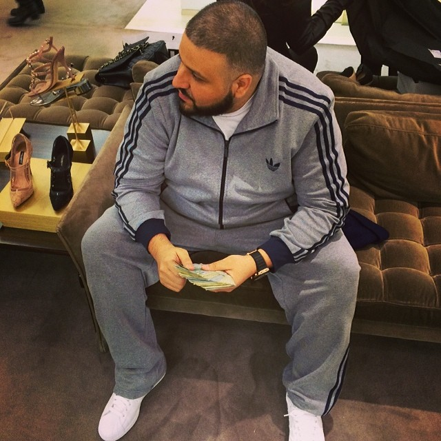 DJ Khaled wearing adidas Originals Superstar