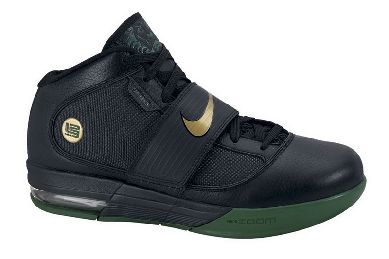 Nike Zoom Soldier IV Black Metallic Gold Gorge Green 407707-003