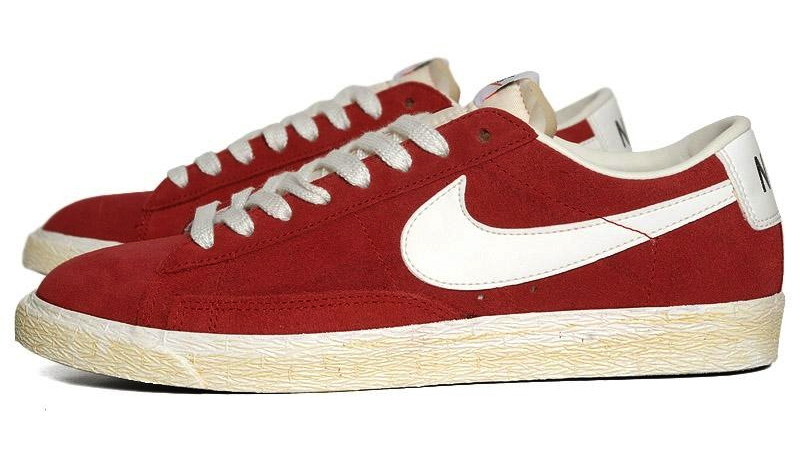 77983ad5aa41 The Varsity Red Nike Blazer Low PRM VNTG is available now at End Clothing.
