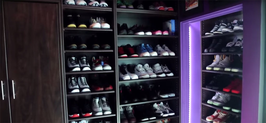 The 15 Best Celebrity Sneaker Closets | Sole Collector