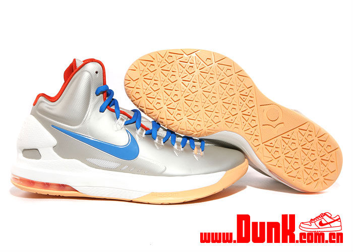 Nike KD V Birch Photo Blue Sail Team Orange 554988-200 (2)