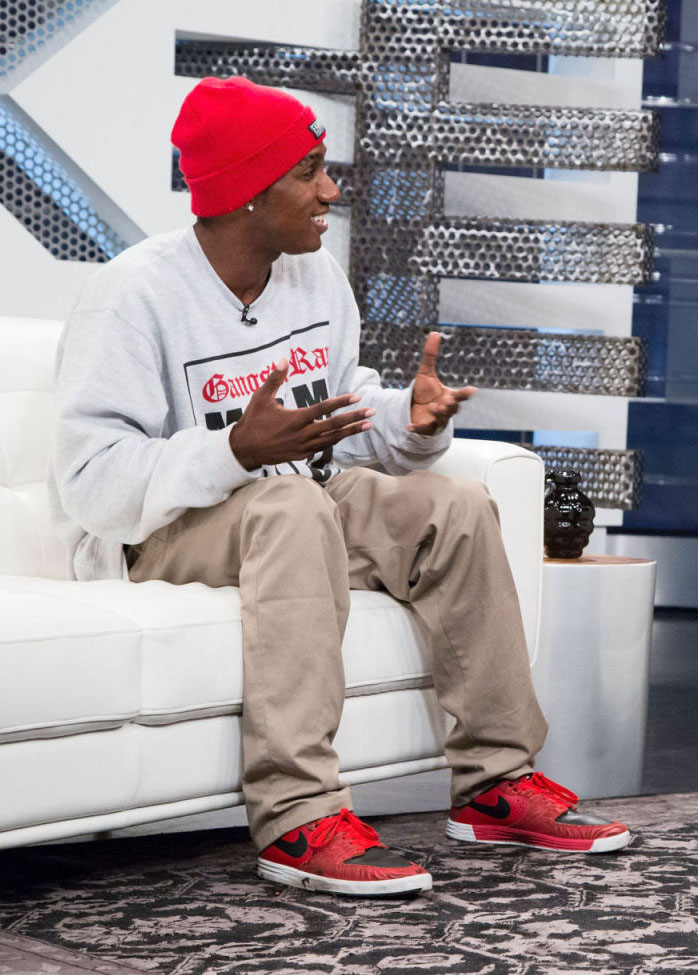 Hopsin wearing Nike SB P-Rod 7
