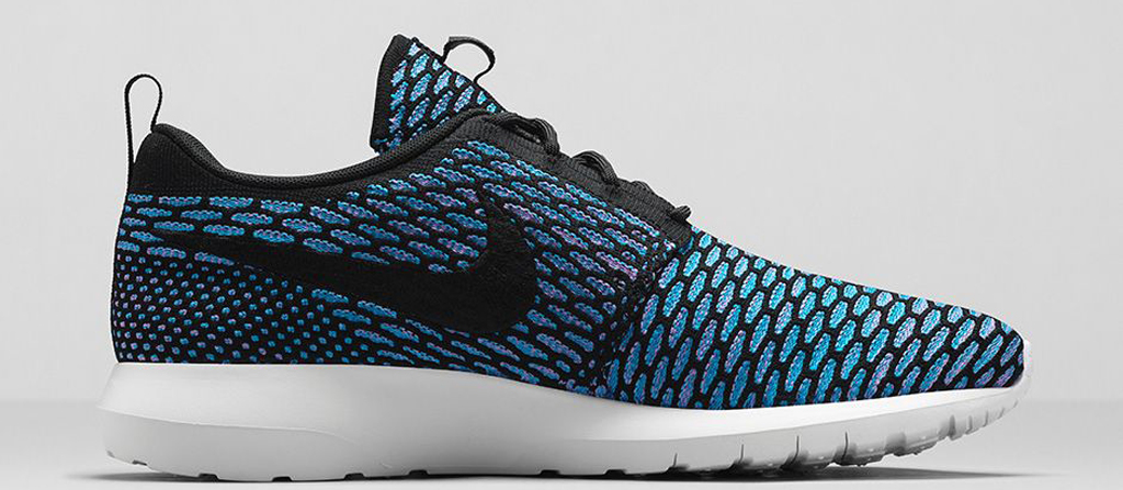 separation shoes d3d44 50c3f Nike Roshe Run Flyknit Black Sequoia-Light Armory Blue-Black