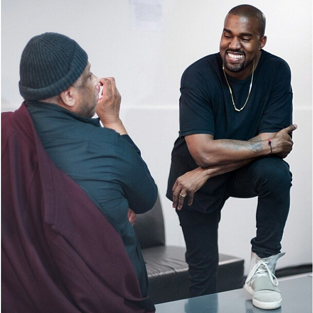 Kanye West wearing adidas Yeezy 750 Boost