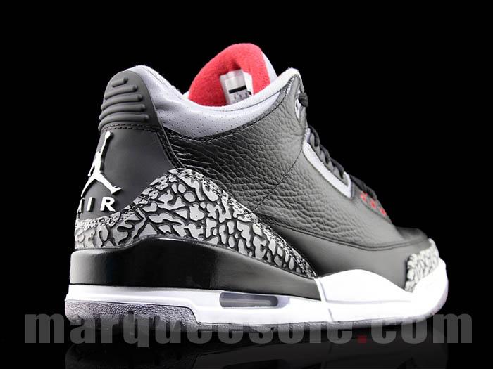 e029fdafbc0c26 Air Jordan Retro 3 - Black Varsity Red-Cement Grey - Holiday 2011 ...