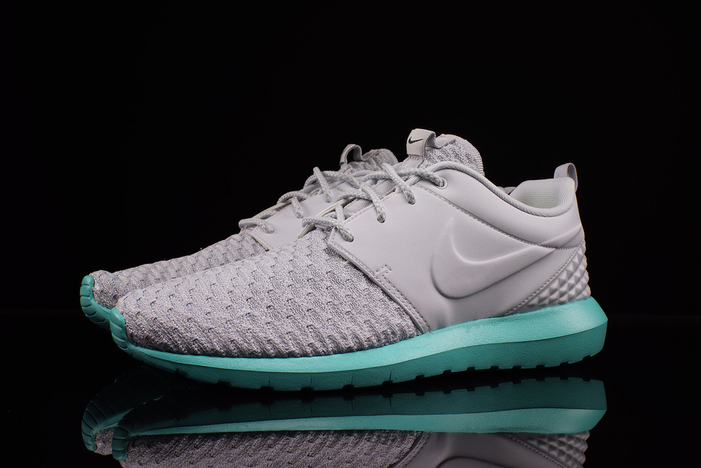 check out 213e4 bd76f NIke Roshe Run NM Flyknit Premium Pure Platinum Calypso 746825-003 (2)