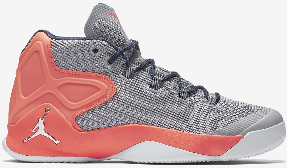 Jordan Melo M12 Wolf Grey/Hyper Orange