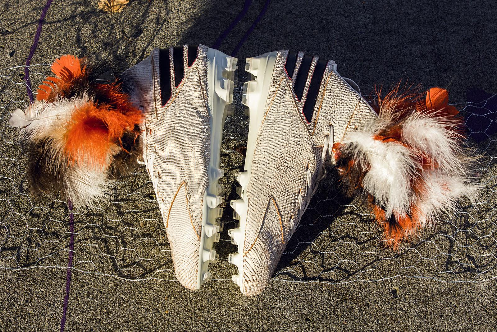Von Miller Chicken Feather Cleats (1)