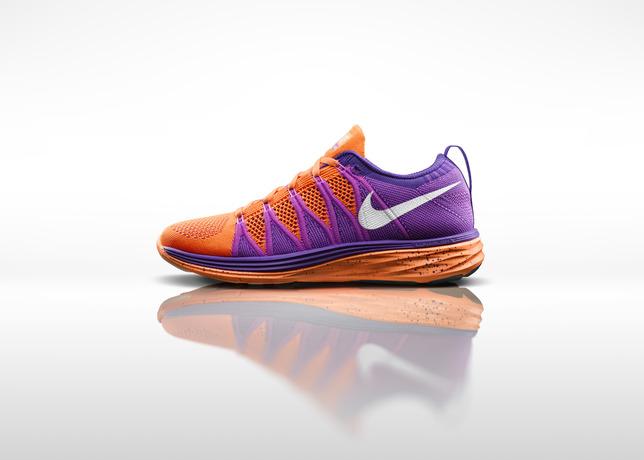 haute qualité Nike Femmes Flyknit Lunaire 2 - Orange / Violet Acan magasin de vente site officiel pas cher excellente 19V3KDx
