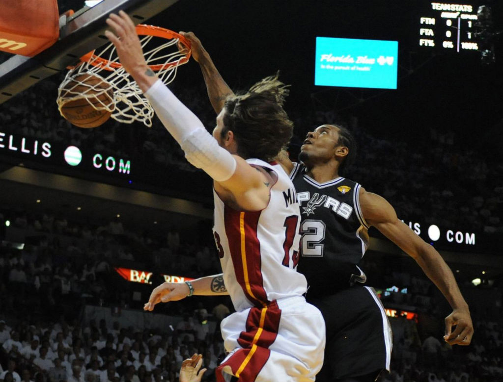 Kawhi Leonard Posterizes Mike Miller In Nike Air Force Max 2013 (7)