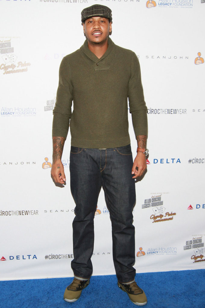 Carmelo Anthony wearing Jordan Melo M9 Squadron Green