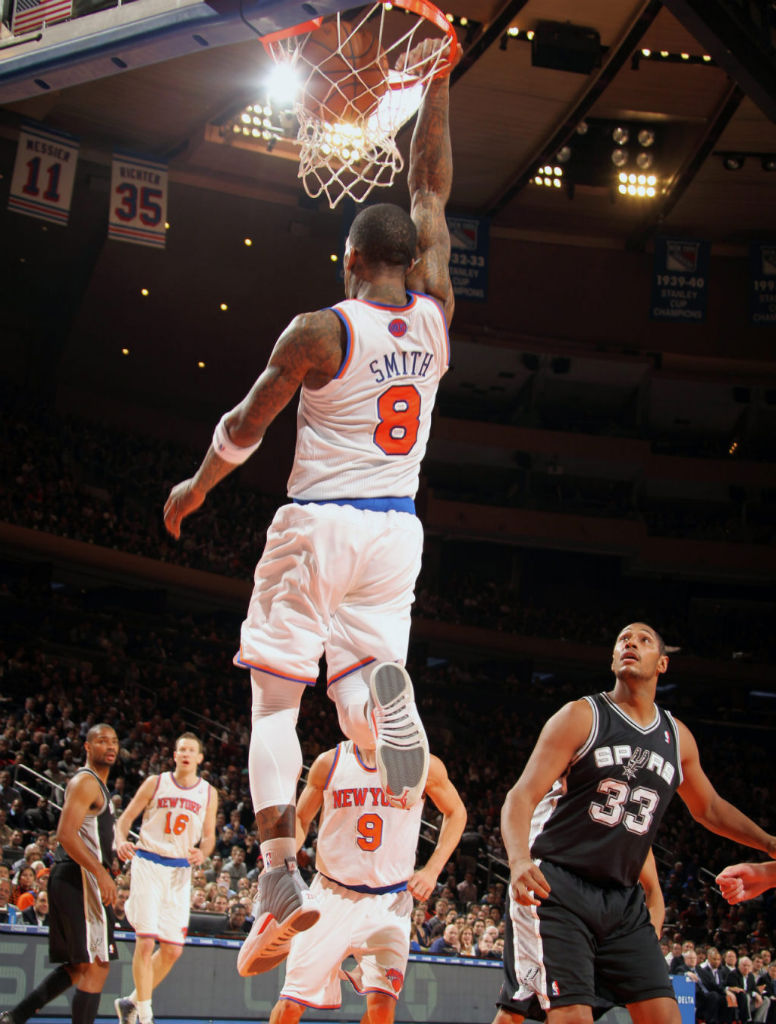 "Highlight // J.R. Smith's Reverse Alley Oop in the ""Cool Grey"" Air Jordan XII 12 (5)"