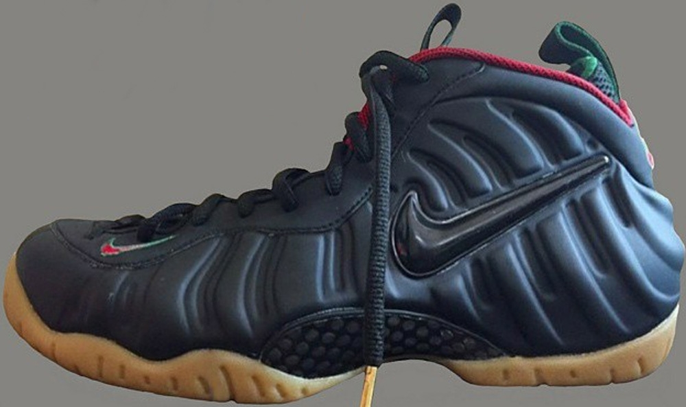 Nike Air Foamposite Pro Black/Gorge Green-Metallic Gold-Gym Red