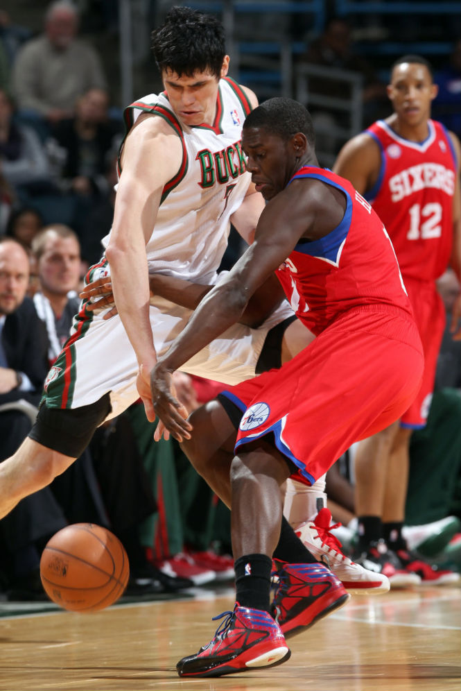 Jrue Holiday wearing adidas Crazy Fast Away PE