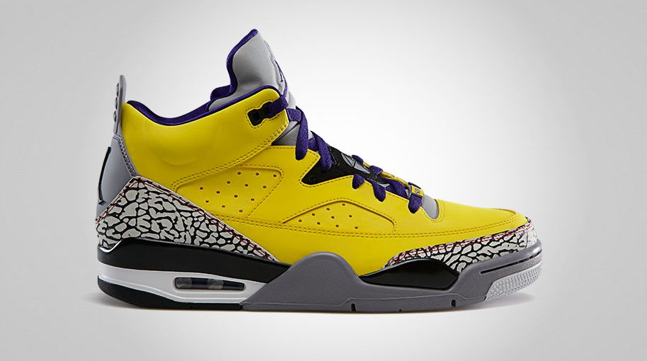 save off fc910 0be60 Jordan Son of Mars Low Tour Yellow Grape Ice Cement Grey Black White  580603-708