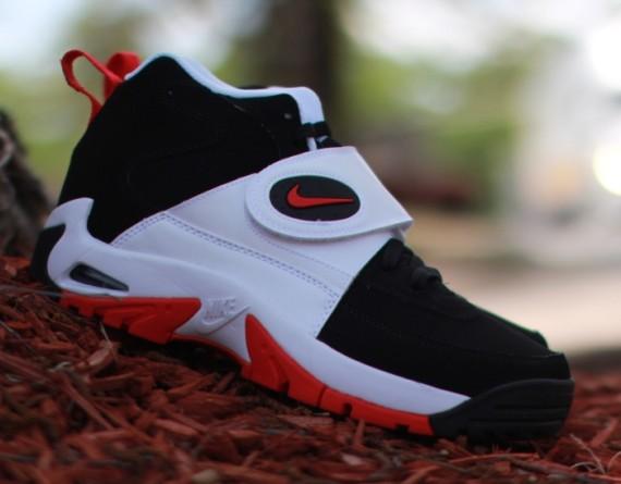 ec40d4cd5f Nike Air Mission - Black/University Red-White. The Junior Seau-endorsed ...