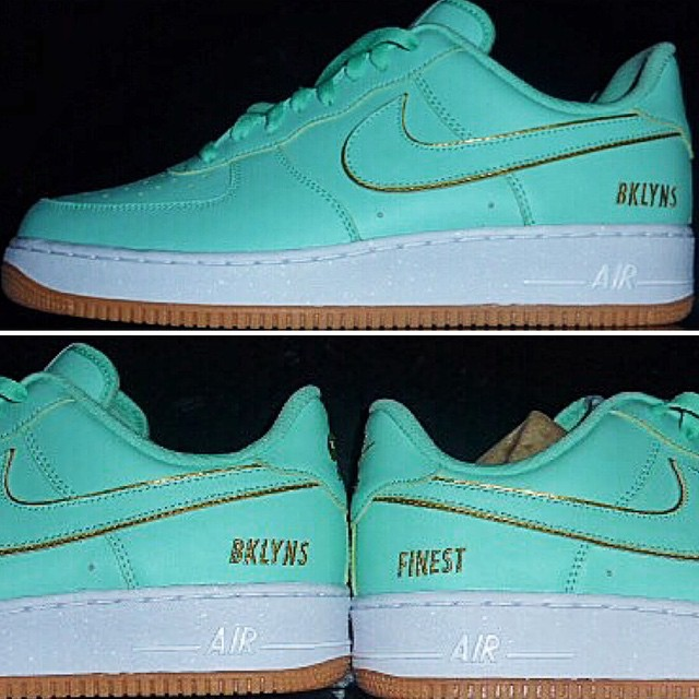 DJ Clark Kent Picks Up NIKEiD Air Force 1 Minty Gold