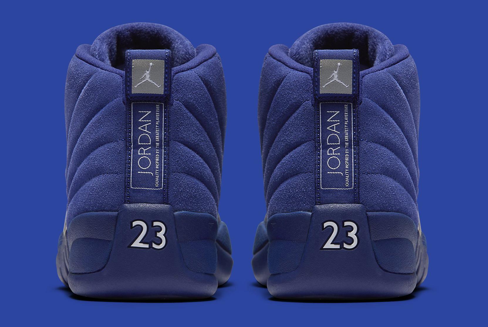 Blue Jordan 12 Heel